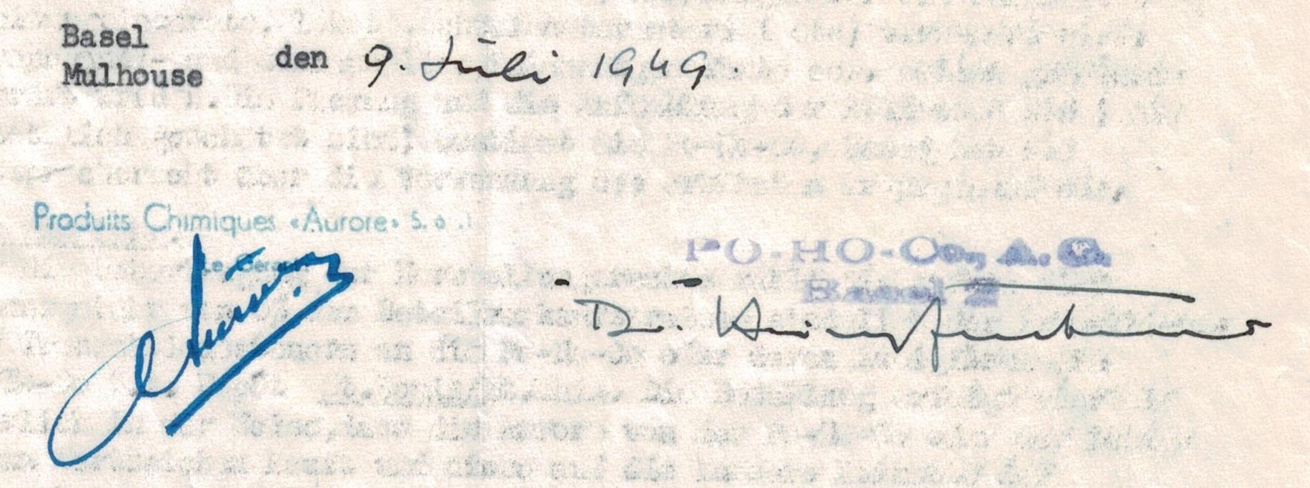 Contrat OLBAS__09 07 1949